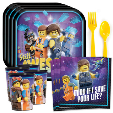Lego Movie 2 Standard Tableware Kit with Favor Cup (Serves 8)