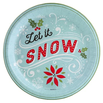 Let it Snow Dinner Plate (8)