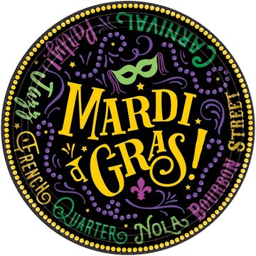 Let the Good Times Roll Mardi Gras Lunch Plates (60)