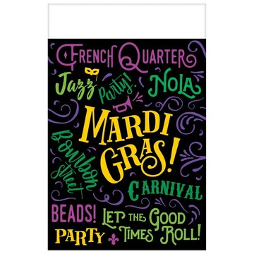 Let the Good Times Roll Mardi Gras Table Cover