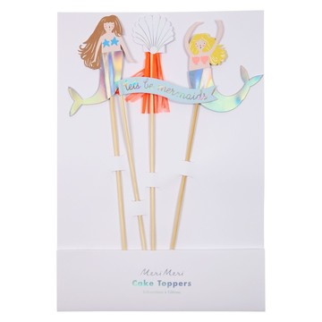 Let's Be Mermaids Cake Toppers, 4ct
