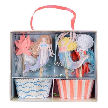 Let's Be Mermaids Cupcake Kit, 24ct
