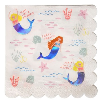 Let's Be Mermaids Lunch Napkins, 16ct