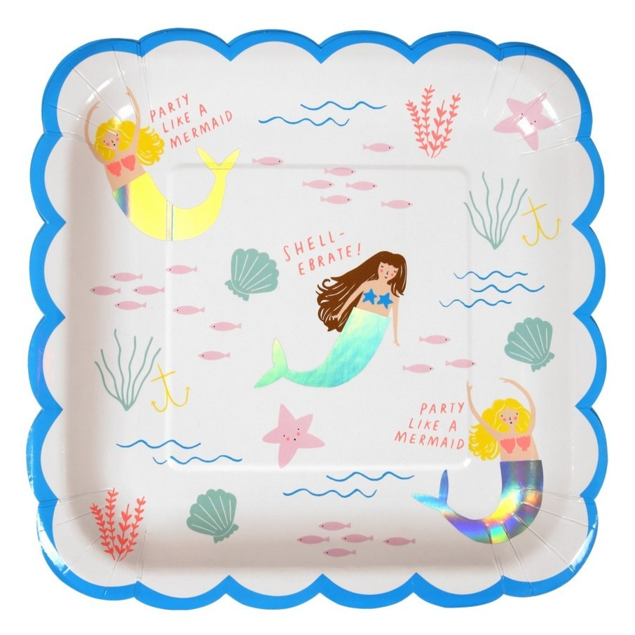 View larger image of Let's Be Mermaids Lunch Plates, 8ct