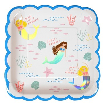 Let's Be Mermaids Lunch Plates, 8ct