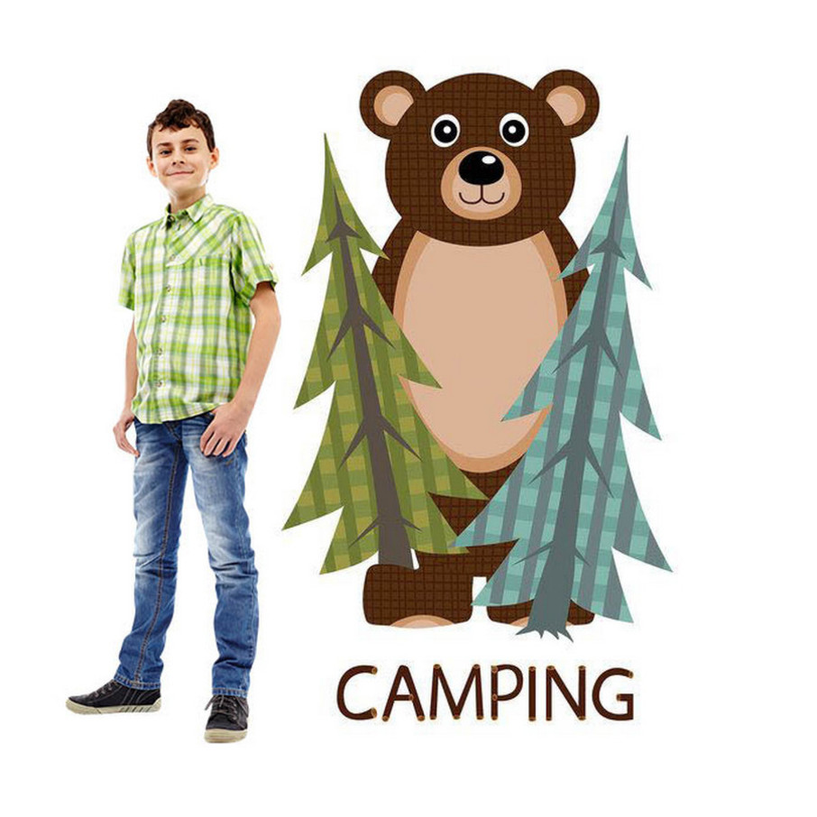 View larger image of Let's Go Camping Standup - 5' Tall