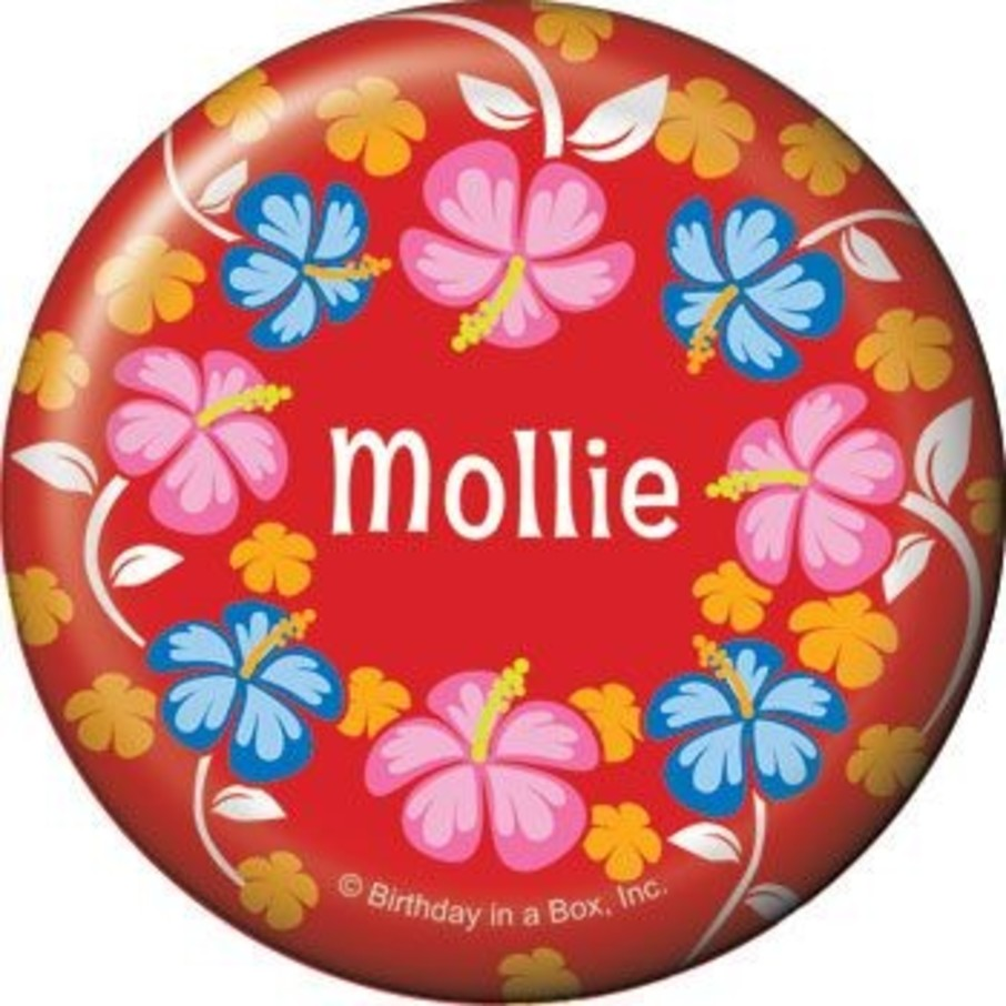 View larger image of Let's Luau Personalized Button (each)