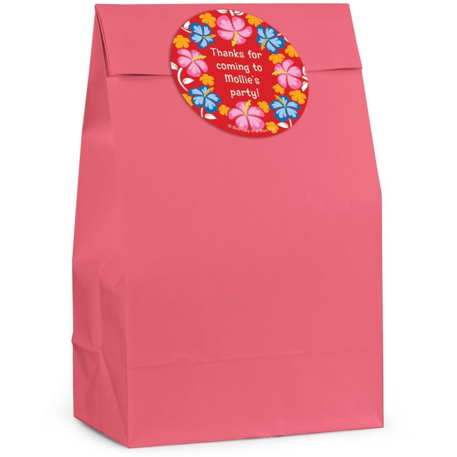 View larger image of Let's Luau Personalized Favor Bag (Set Of 12)