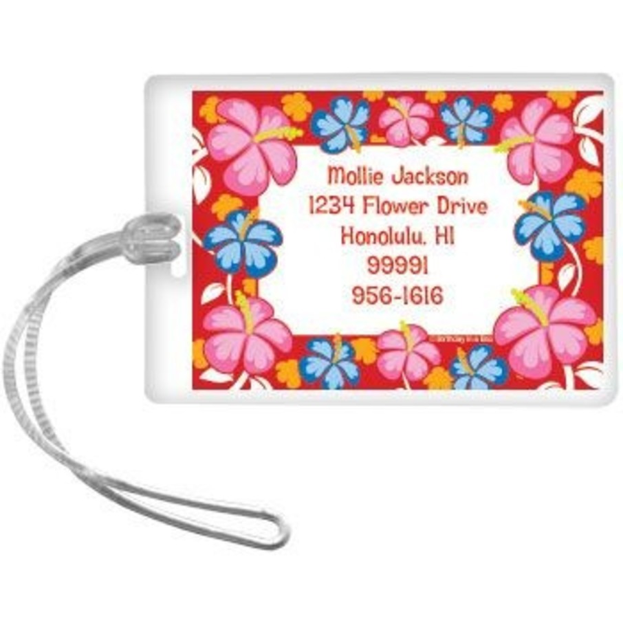View larger image of Let's Luau Personalized Luggage Tag (each)