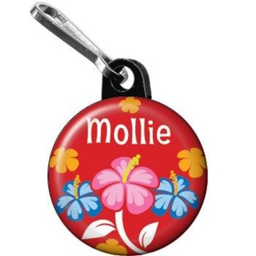 Let's Luau Personalized Mini Zipper Pull (each)