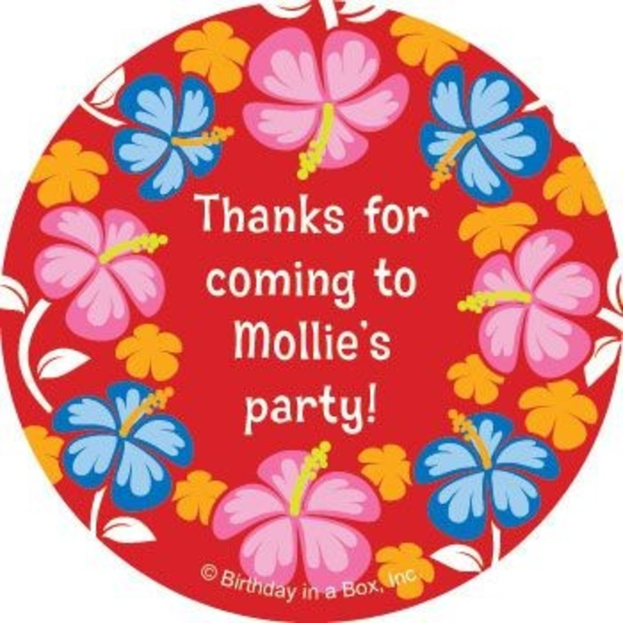 View larger image of Let's Luau Personalized Stickers (sheet of 12)