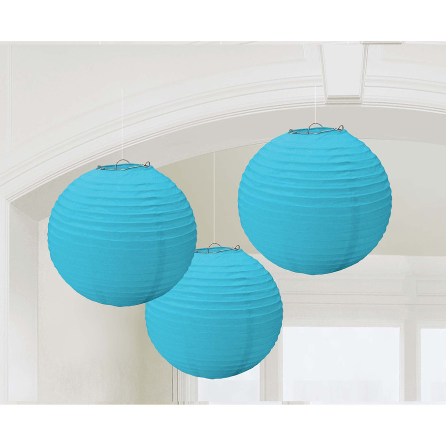 View larger image of Light Blue Paper Lantern Decorations (3 Count)
