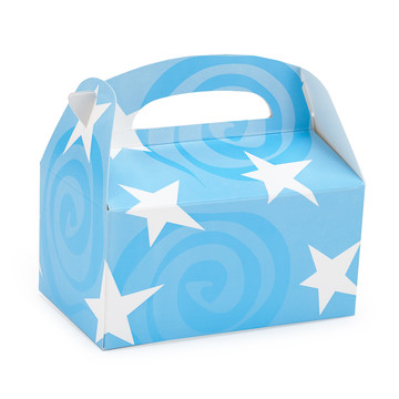 Light Blue with White Stars Empty Favor Boxes (4)