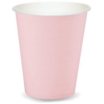 Light Pink 9 oz. Paper Cups (8 Count)
