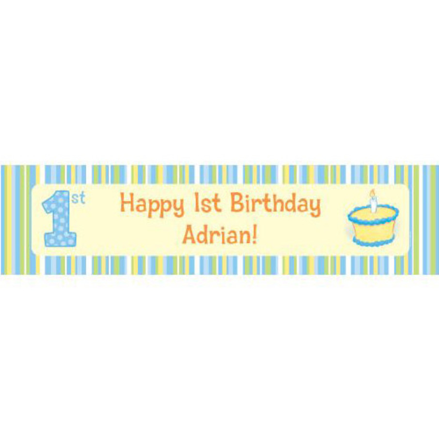 View larger image of Lil' Boy 1st Birthday Personalized Banner (each)