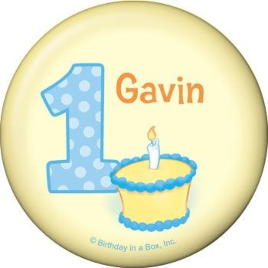 View larger image of Lil' Boy 1st Birthday Personalized Button (each)