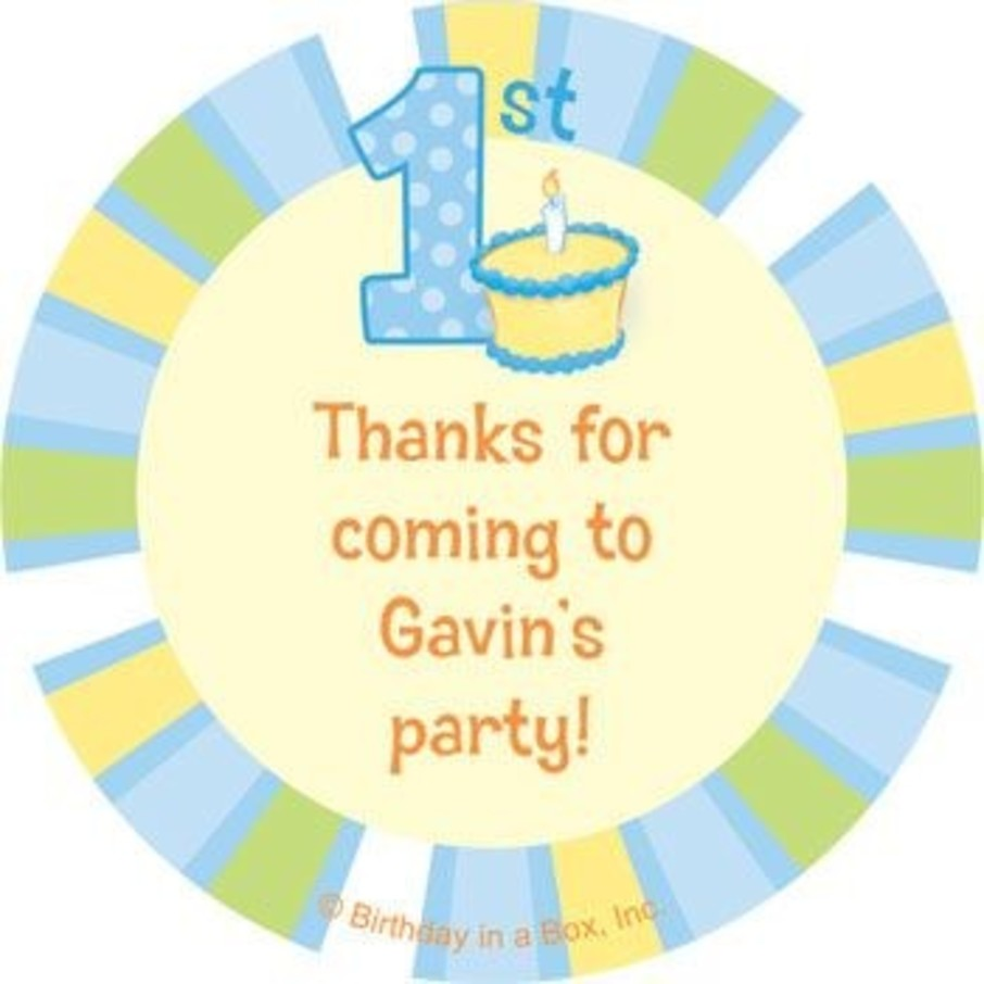 View larger image of Lil' Boy 1st Birthday Personalized Stickers (sheet of 12)