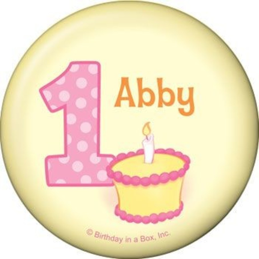 View larger image of Lil' Girl 1st Birthday Personalized Button (each)
