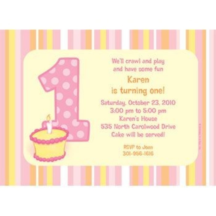 View larger image of Lil' Girl 1st Birthday Personalized Invitation (each)