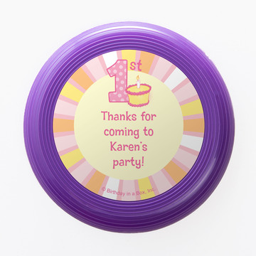 Lil Girl 1st Birthday Personalized Mini Discs (Set of 12)