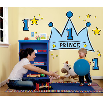Lil' Prince 1st Birthday Giant Wall Decals