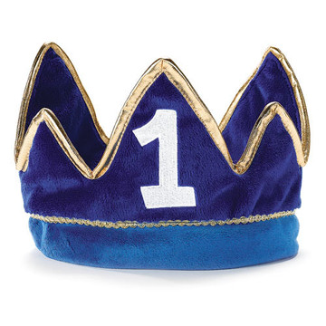 Lil' Prince 1st Birthday Plush Crown