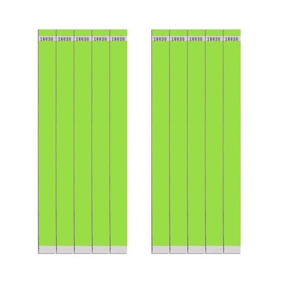 """View larger image of Lime 3/4"""" Paper Wristbands (100 Count)"""