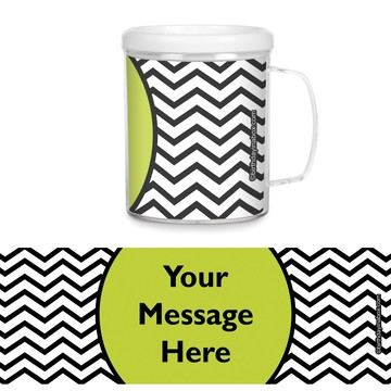 Lime Chevron Personalized Favor Mugs (Each)