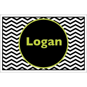 Lime Chevron Personalized Placemat (Each)