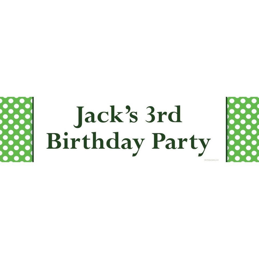 View larger image of Lime Dots Personalized Banner (Each)
