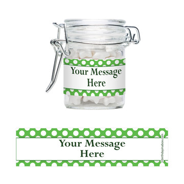 Lime Dots Personalized Glass Apothecary Jars (12 Count)