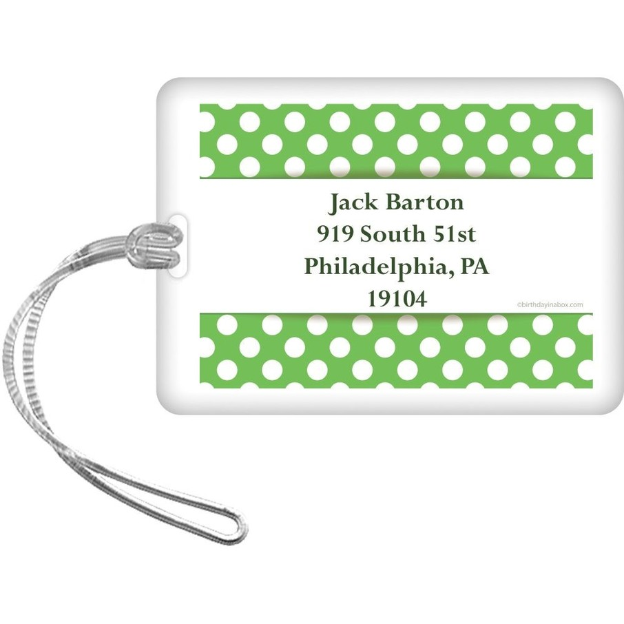 View larger image of Lime Dots Personalized Luggage Tag (Each)