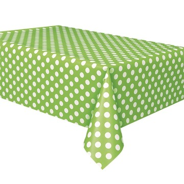 Lime Dots Table Cover (Each)