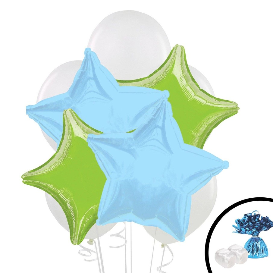 View larger image of Lime Green Blue Balloon Bouquet