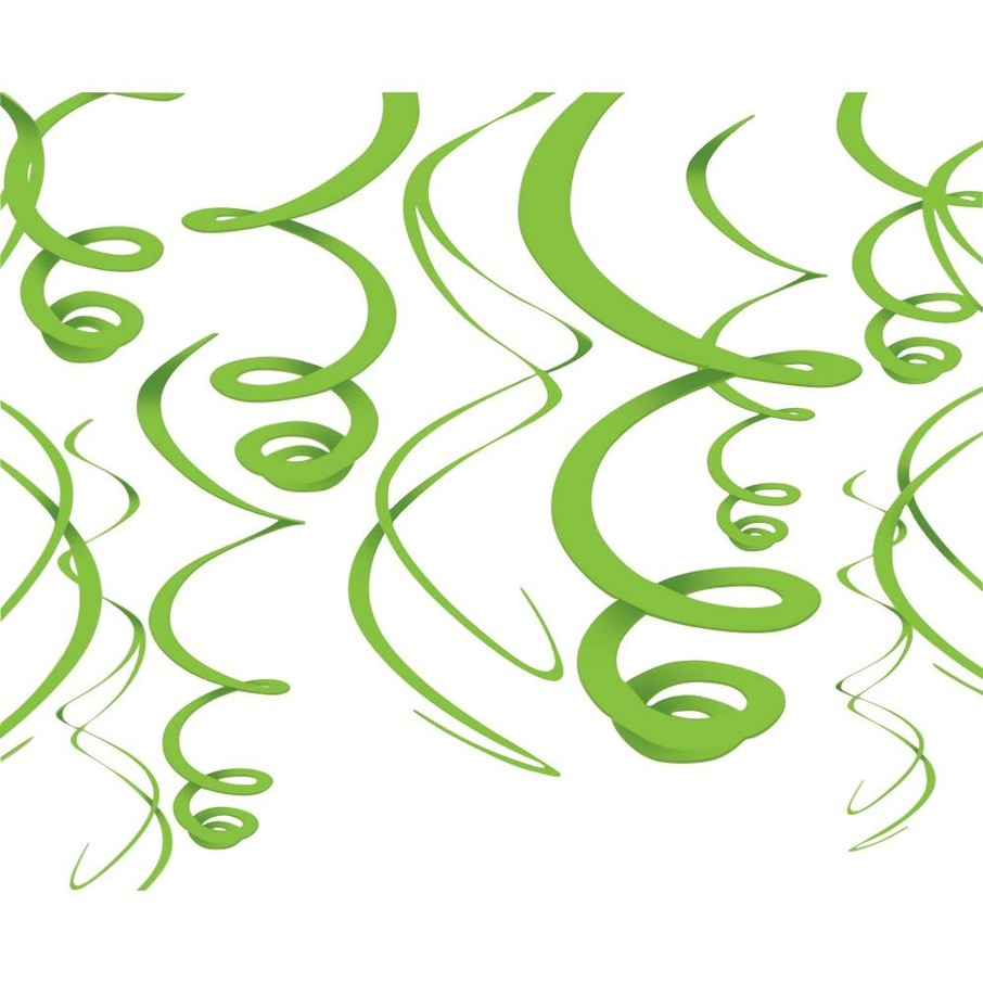"View larger image of Lime Green Plastic 22"" Hanging Decorations"