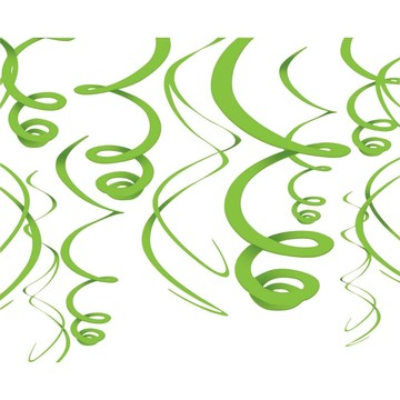 """Lime Green Plastic 22"""" Hanging Decorations"""