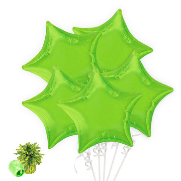 Lime Green Star Balloon Bouquet Kit