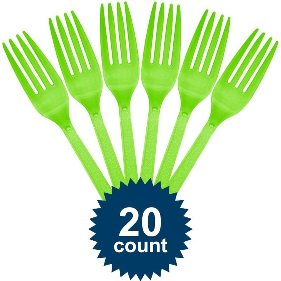 View larger image of Lime Plastic Forks