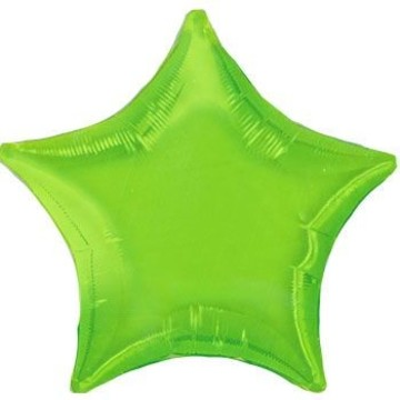 Lime Star Mylar Balloon (each)