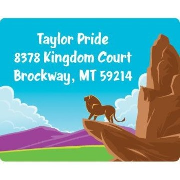 Lion Kingdom Personalized Address Labels (sheet of 15)