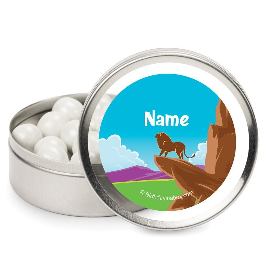 View larger image of Lion Kingdom Personalized Candy Tins (12 Pack)