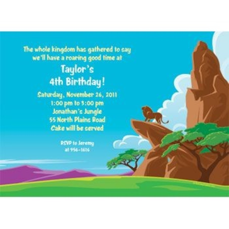 View larger image of Lion Kingdom Personalized Invitation (each)