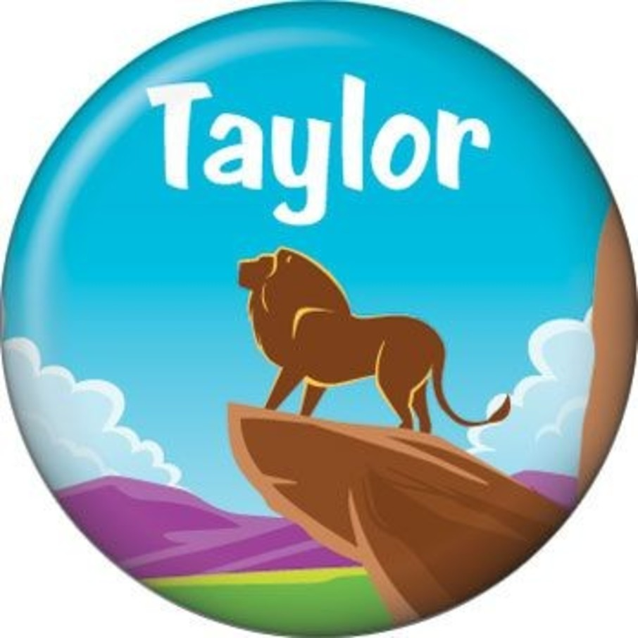 View larger image of Lion Kingdom Personalized Mini Button (each)