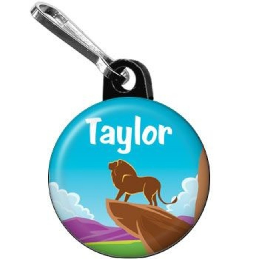 View larger image of Lion Kingdom Personalized Mini Zipper Pull (each)
