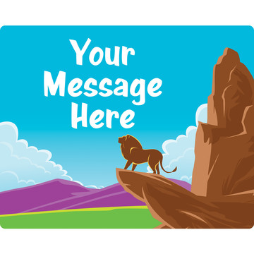 Lion Kingdom Personalized Rectangular Stickers (Sheet of 15)