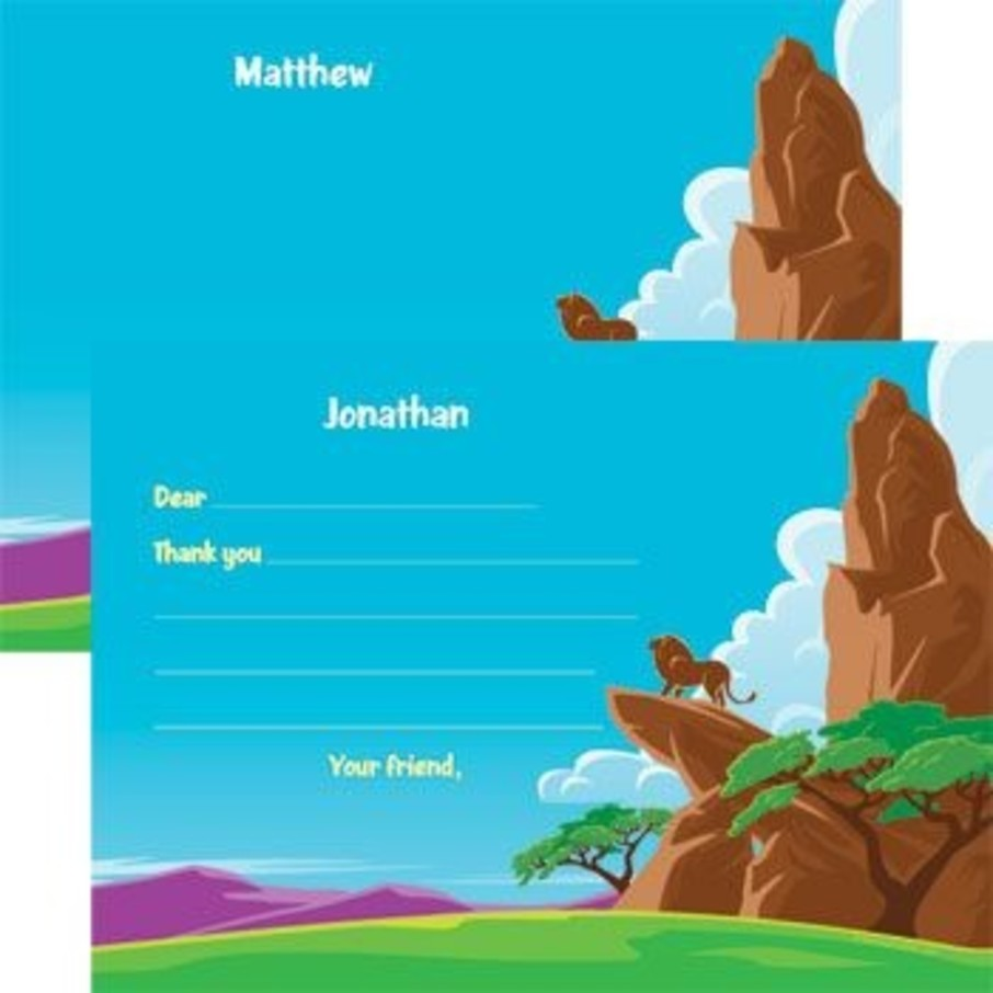 View larger image of Lion Kingdom Personalized Thank You Note (each)