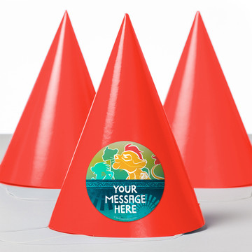 Lion Pride Personalized Party Hats (8 Count)