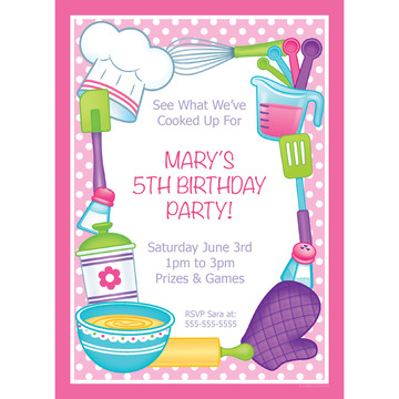 Little Chef Personalized Invitation (Each)