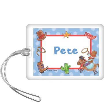 Little Cowboy Party Personalized Bag Tag (each)