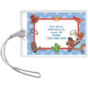 Little Cowboy Party Personalized Luggage Tag (each)